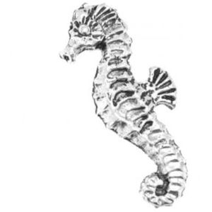 English Pewter Seahorse Tie Pin or Lapel Badge