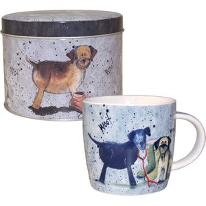 Alex Clark Dogs design Mug in Tin