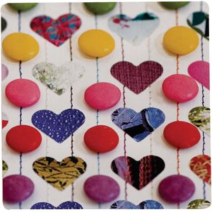 Ella Doran Smartie Love Coasters set of 4