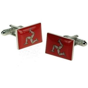 Isle of Man Manx Flag Cufflinks