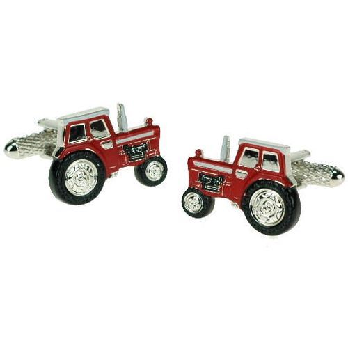 Red Tractor Novelty Cufflinks