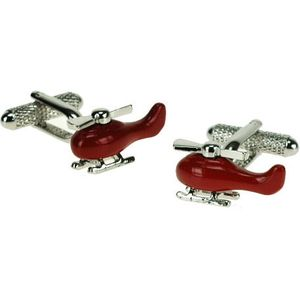 Red Chopper Helicopter Cufflinks