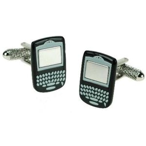 Novelty Retro Mobile Phone (Black) Cufflinks