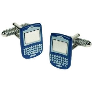 Blackberry Phone (Blue) Cufflinks