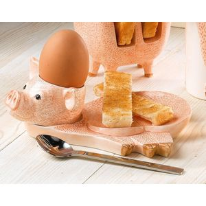 Piglet Egg Cup Plate & Spoon Set