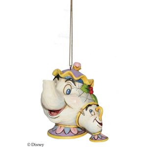 Disney Traditions Hanging Ornament - Mrs Potts & Chip (Beauty & The Beast)