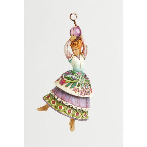 Heartwood Creek Nine Ladies Dancing Hanging Ornament 4002372 by Jim Shore