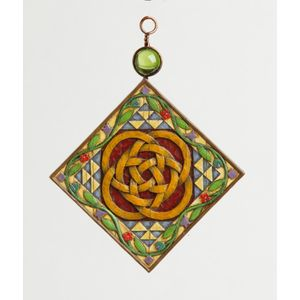 Heartwood Creek Five Golden Rings Hanging Ornament