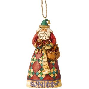 Heartwood Creek Hanging Ornament Santa He Knows
