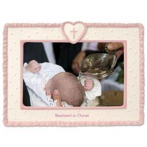 Baptism Photo frame - pink