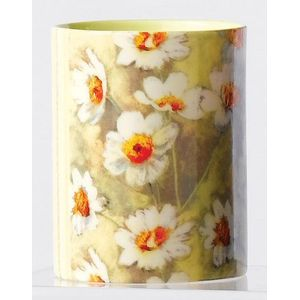 Feverfew Ceramic Votive candle in holder