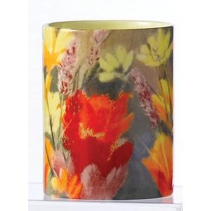 Ceramic Votive Candle Meadow Design - Vanilla Fragrance