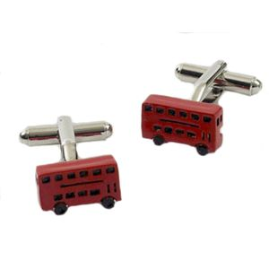 Red Double Decker Bus Cufflinks