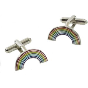 Coloured Rainbow Cufflinks