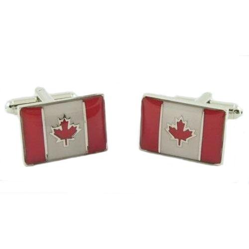 Canadian Flag Novelty Cufflinks