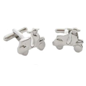 Silver Vespa Scooter Cufflinks