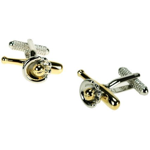Baseball Bat and Glove Novelty Cufflinks
