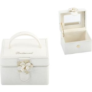 Juliana Wedding Party Leatherette Jewellery Box - Bridesmaid Keepsake Gift