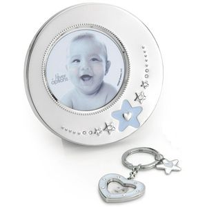 Silver Options Photo Frame & Photo Keyring Set - Baby Boy