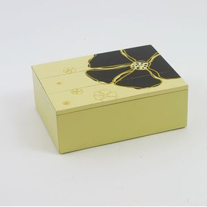Hibiscus Cream Wooden Box With Lid