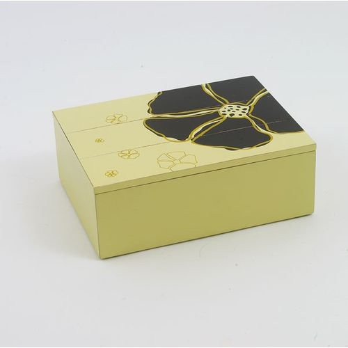 Renaissance Hibiscus Cream Wooden Box With Lid Ref A20974