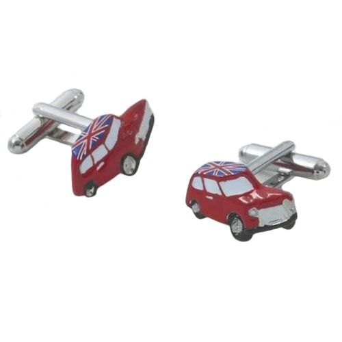 Mini Car with  Union Jack on roof Cufflinks