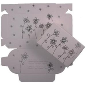 Cake Boxes - Silver Flowers Design Qty 8
