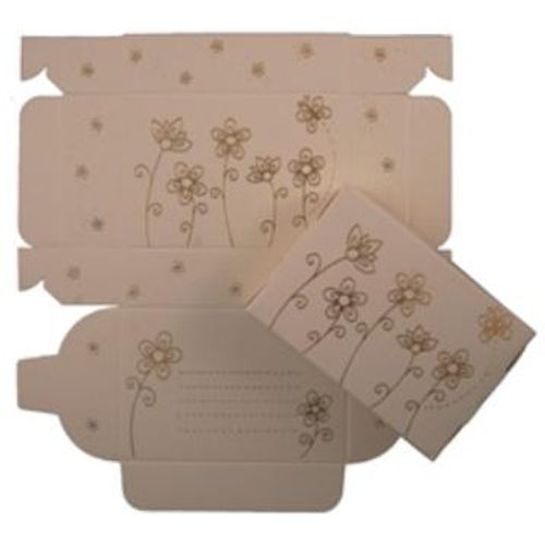 Cake Boxes -  Gold  Flowers  Design pack of 8
