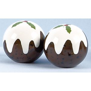 Christmas Pudding Salt & Pepper shaker set