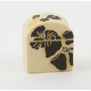 Renaissance Hibiscus Collection - Trinket Box With Domed Lid