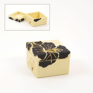 Hibiscus Square Trinket Box
