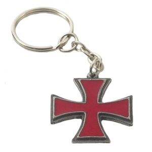 English Pewter Knights Templar Pattee Keyring