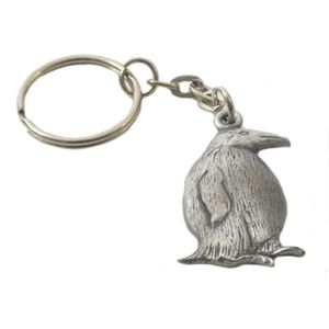 English Pewter Penguin Keyring