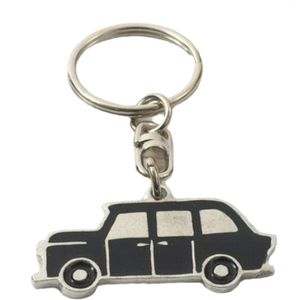 English Pewter Taxi Keyring