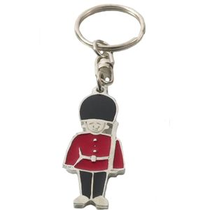 English Pewter Guardsman Keyring