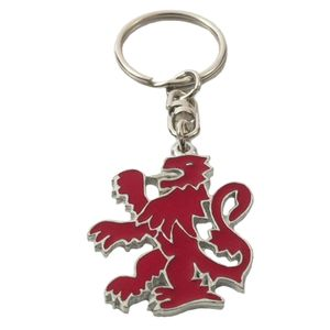 English Pewter Lion Rampant Keyring