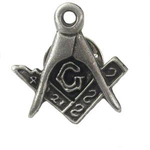 English Pewter Masonic Tie Pin Badge
