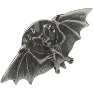 English Pewter Bat Tie Pin or Lapel Badge
