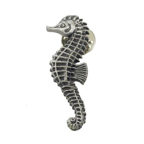 English Pewter Ocean Seahorse Tie Pin Badge Ref LP737
