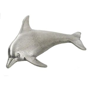 English Pewter Dolphin Tie Pin or Lapel Badge