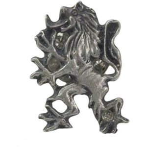 English Pewter Scottish Lion Rampant Tie Pin Badge