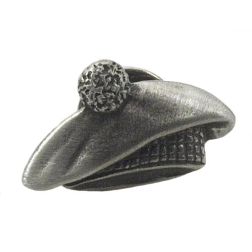 English Pewter Tam O Shanter Hat Tie Pin Badge