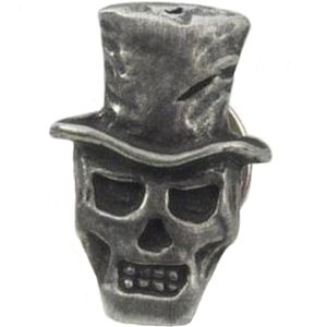English Pewter Baron Samedi Tie Pin or Lapel Badge