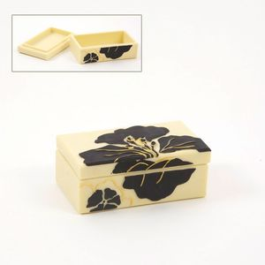 Hibiscus Jewellery Trinket Box
