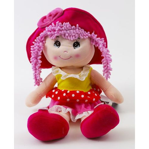 Ragdoll With Pink Hair Soft Toy Ref 8267