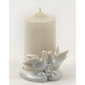 Decorative Wedding Table/Favour Candle - Doves