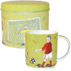 Alex Clark Football design Mug in Gift Tin