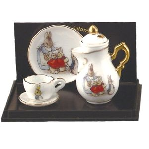 Beatrix Potter Peter Rabbit China Mini Tea Pot Set