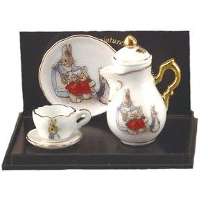 Beatrix Potter Peter Rabbit China Mini Tea Pot Set