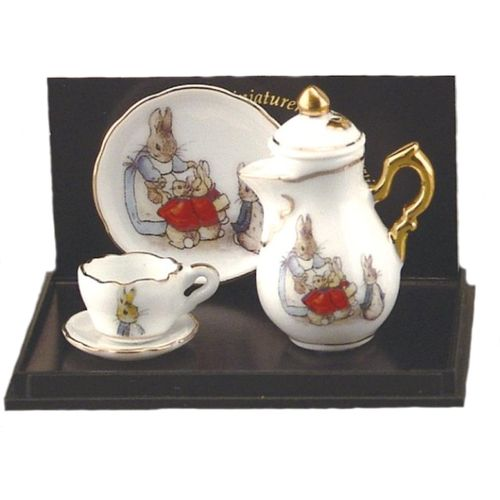 Reutter Porcelain Beatrix Potter Mini Tea Pot Set